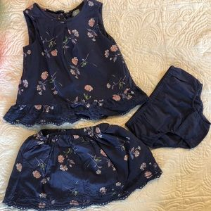 Gap Skirt and Shirt Set
